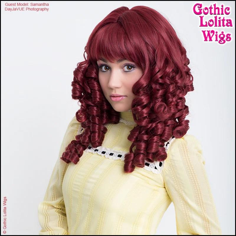Gothic Lolita Wigs Ringlet Redux Collection Burgundy