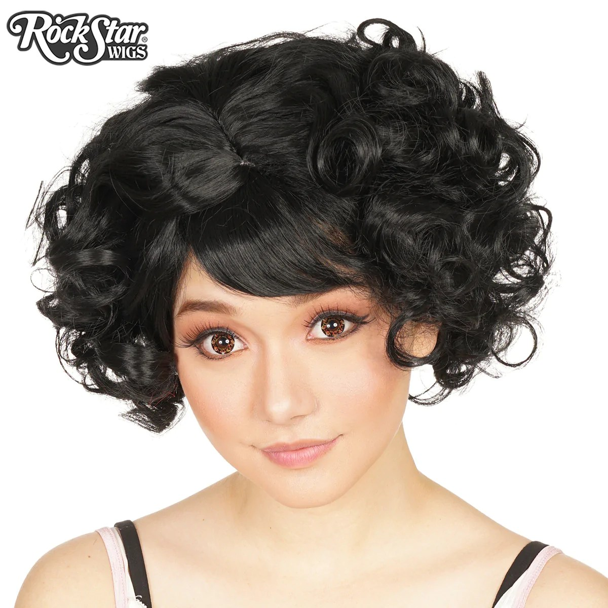 Gothic Lolita Wigs Curly Bob Black Mix Dolluxe