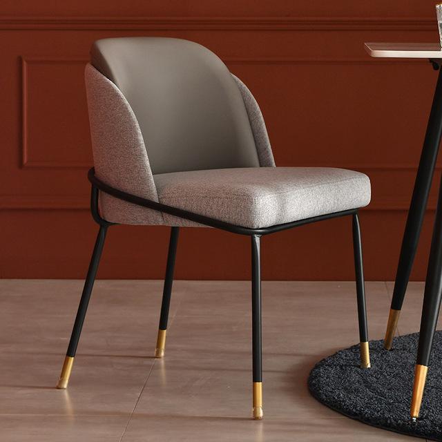 chaise scandinave grise tissu deco nordique