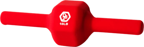 Dumbbell2 - 10 Pound - Red Neoprene Covered