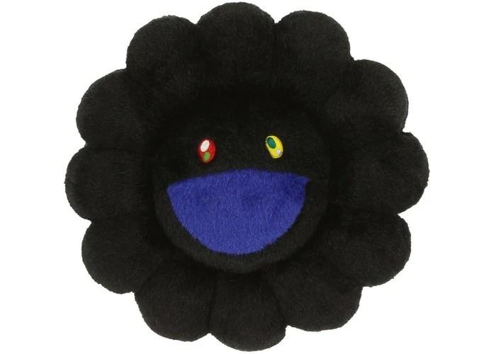 authentic takashi murakami flower cushion black 30cm