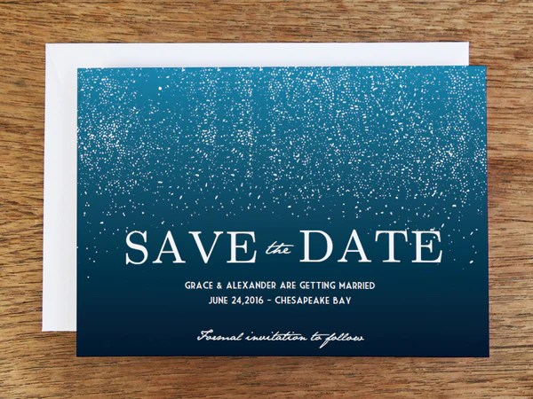 Printable Save The Date Starry Night Empapers