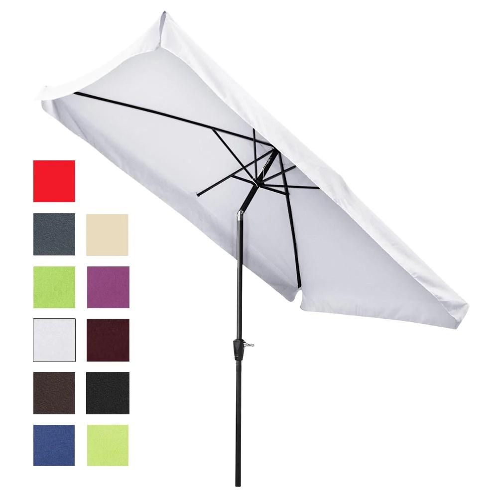 rectangular patio umbrella tilt metal 10x6 5ft 6 rib