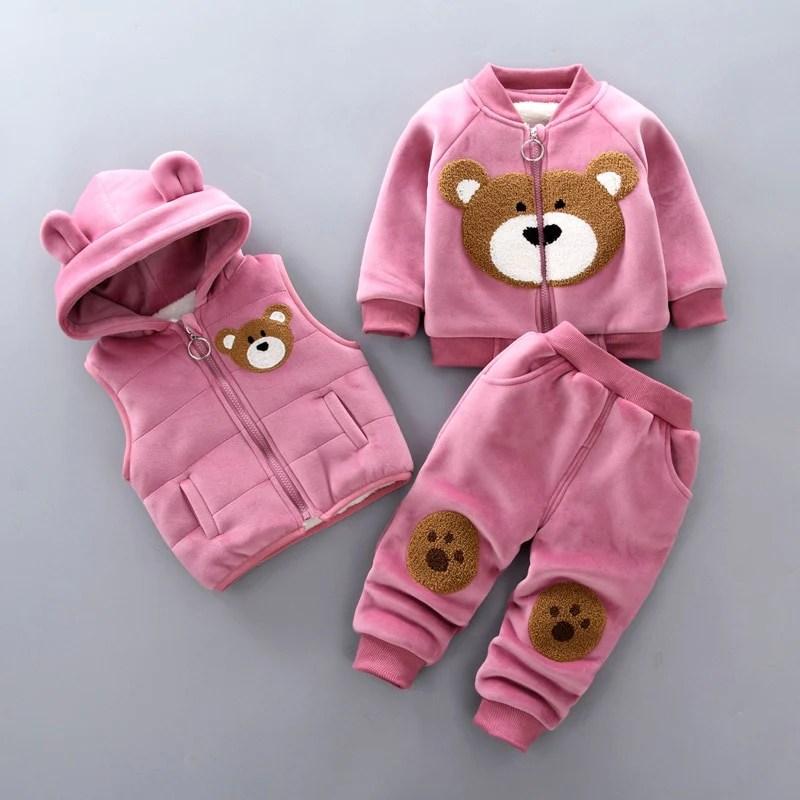3 Piece Baby Teddy Tracksuit
