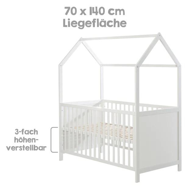 lit cabane 60 x 120 cm certifie fsc lit bebe et d appoint gris reg roba