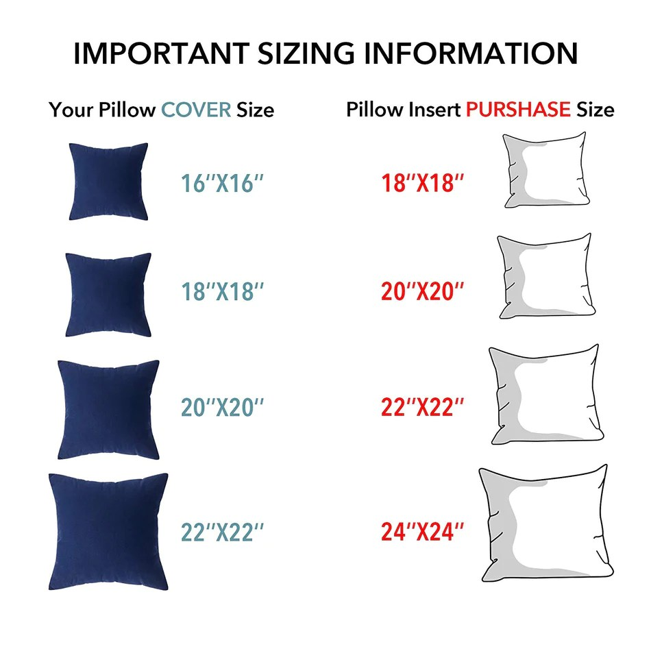 oubonun throw pillow inserts set of 2 100 cotton cover square