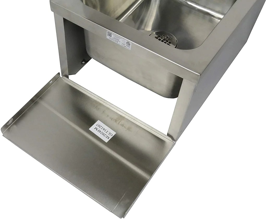 gsw se2024fm commercial stainless steel floor mount mop sink with stra 1234buy com