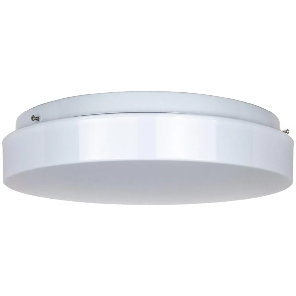 Flush Mount Lighting   Overhead Ceiling Light Fixtures     BulbAmerica Sunlite 11inch Circline Fluorescent Fixture with White Plastic Cover for  FC8T9