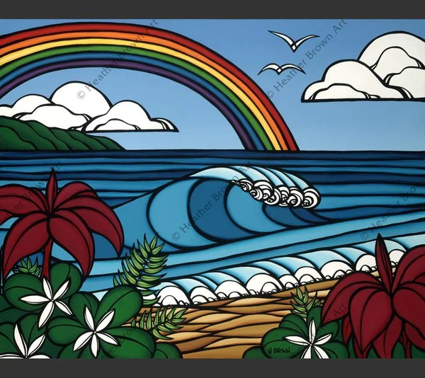 North Shore Rainbow Products Heather Brown Art