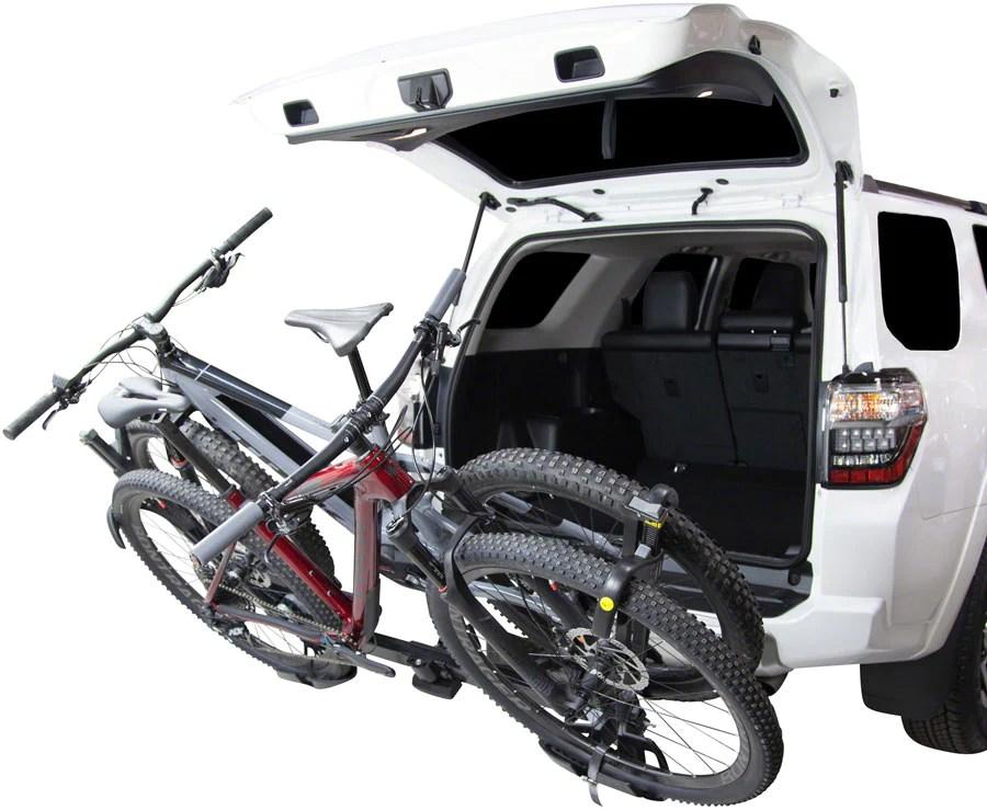 saris superclamp ex hitch bike rack 2 bike 1 1 4 2 receiver black