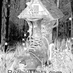 Fantasy Houses Grayscale Printable Format Coloring Book Rachel Mintz Coloring Books