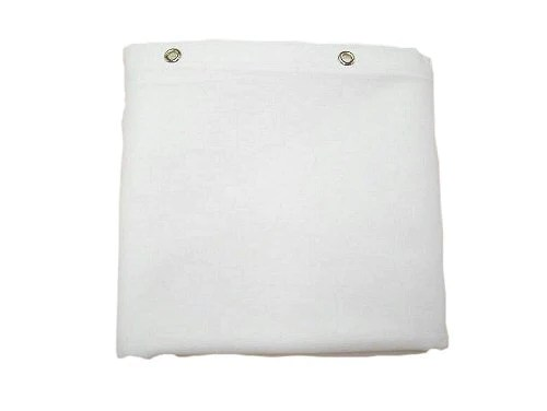 white shower curtain no liner needed made in usa