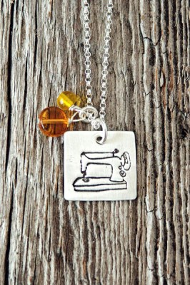Featherweight Sewing Machine Charm Necklace