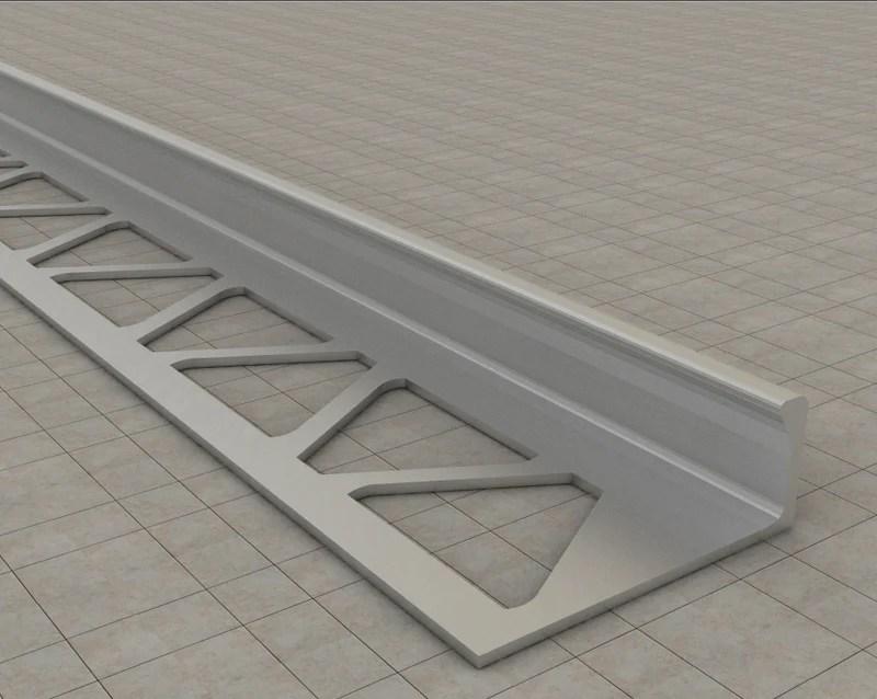 anodised aluminium straight edge tile trim type 3
