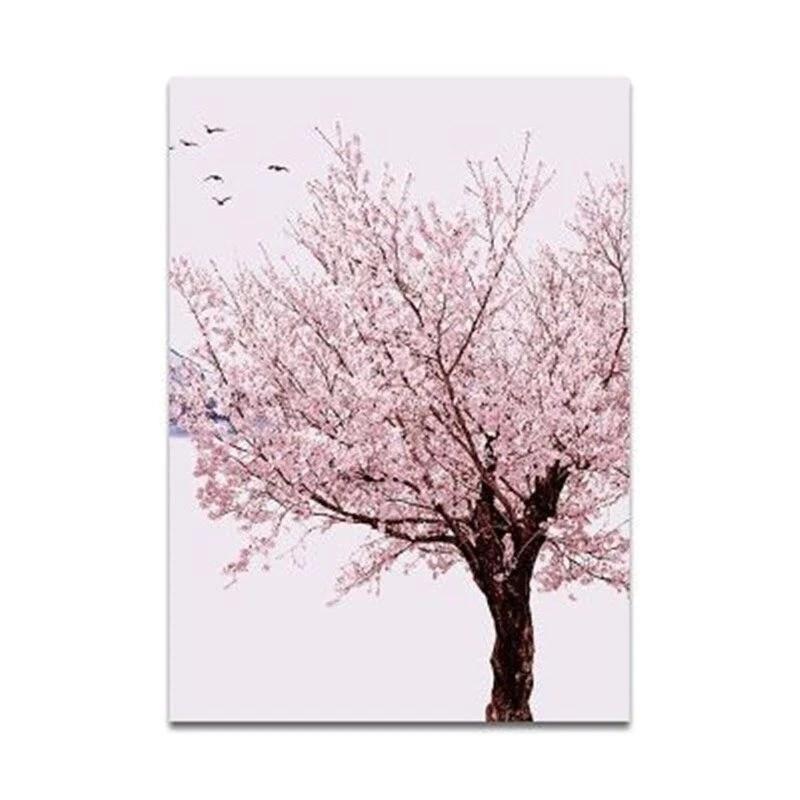 Tableau Japonais Cerisier En Fleur Ugoshi
