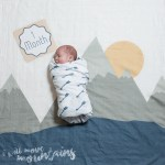 I Will Move Mountains Baby Milestone Blanket Card Set Project Nursery