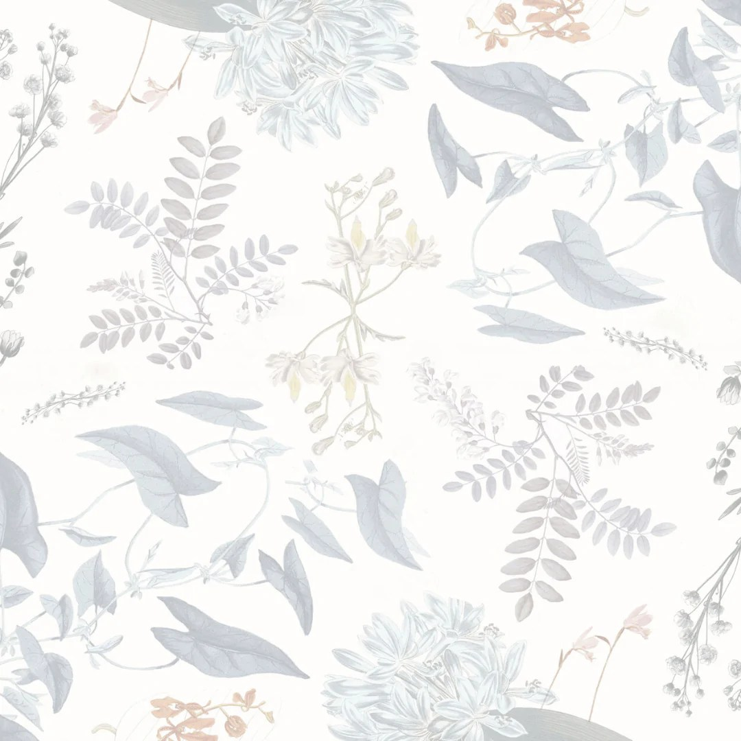 Breezy Botanical Wallpaper Mural Feminine Floral Wall Mural Project Nursery