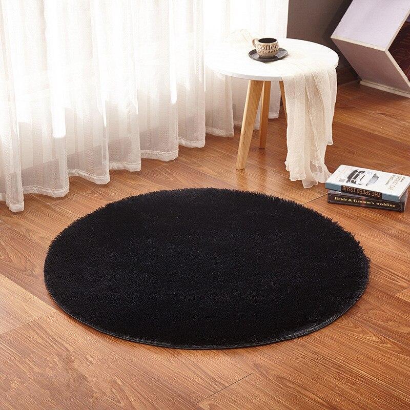 tapis de bain rond noir