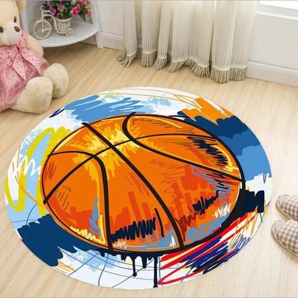 tapis rond basket artistique