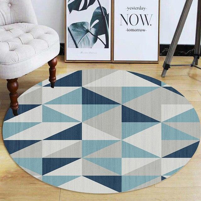 tapis rond triangulation