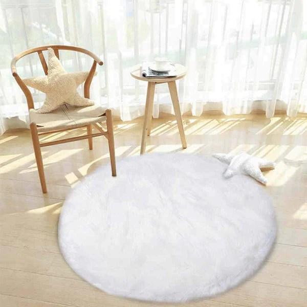 tapis rond blanc mon tapis rond