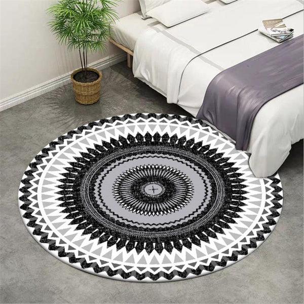 tapis rond tribal