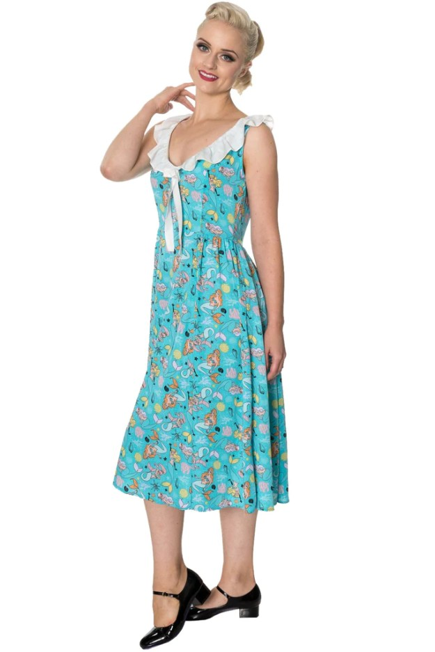 Aqua Heritage Dress by Banned Apparel