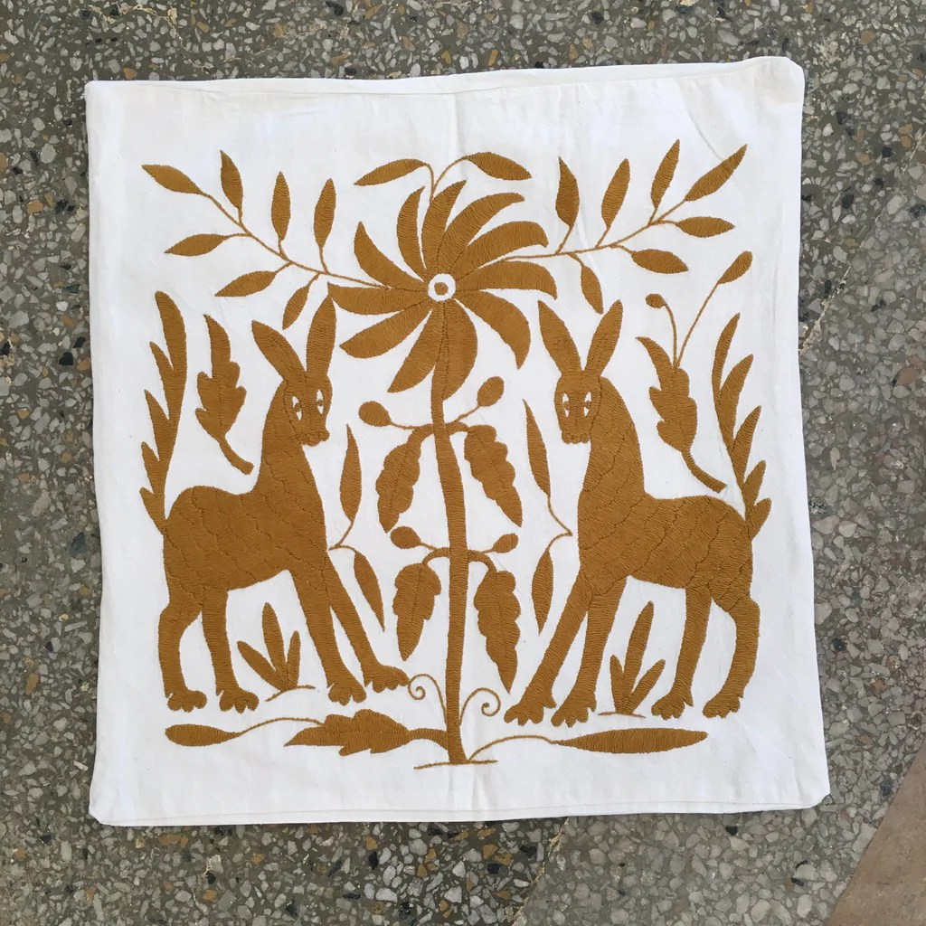 otomi hand embroidered pillow covers