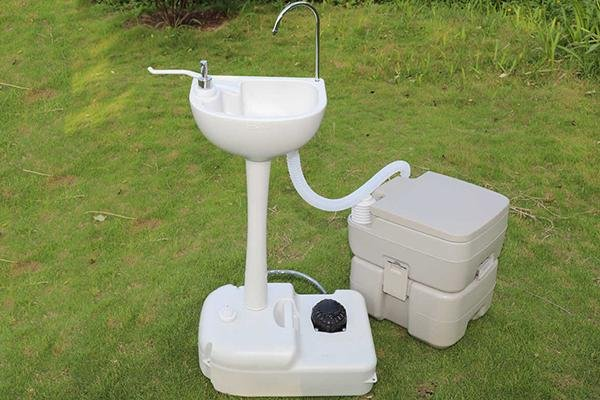 portable toilet and sink combo how