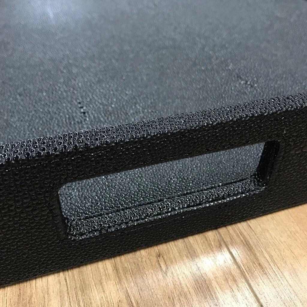 romeo extra large ottoman tray black 30 x 30 x 3 trove marketplace
