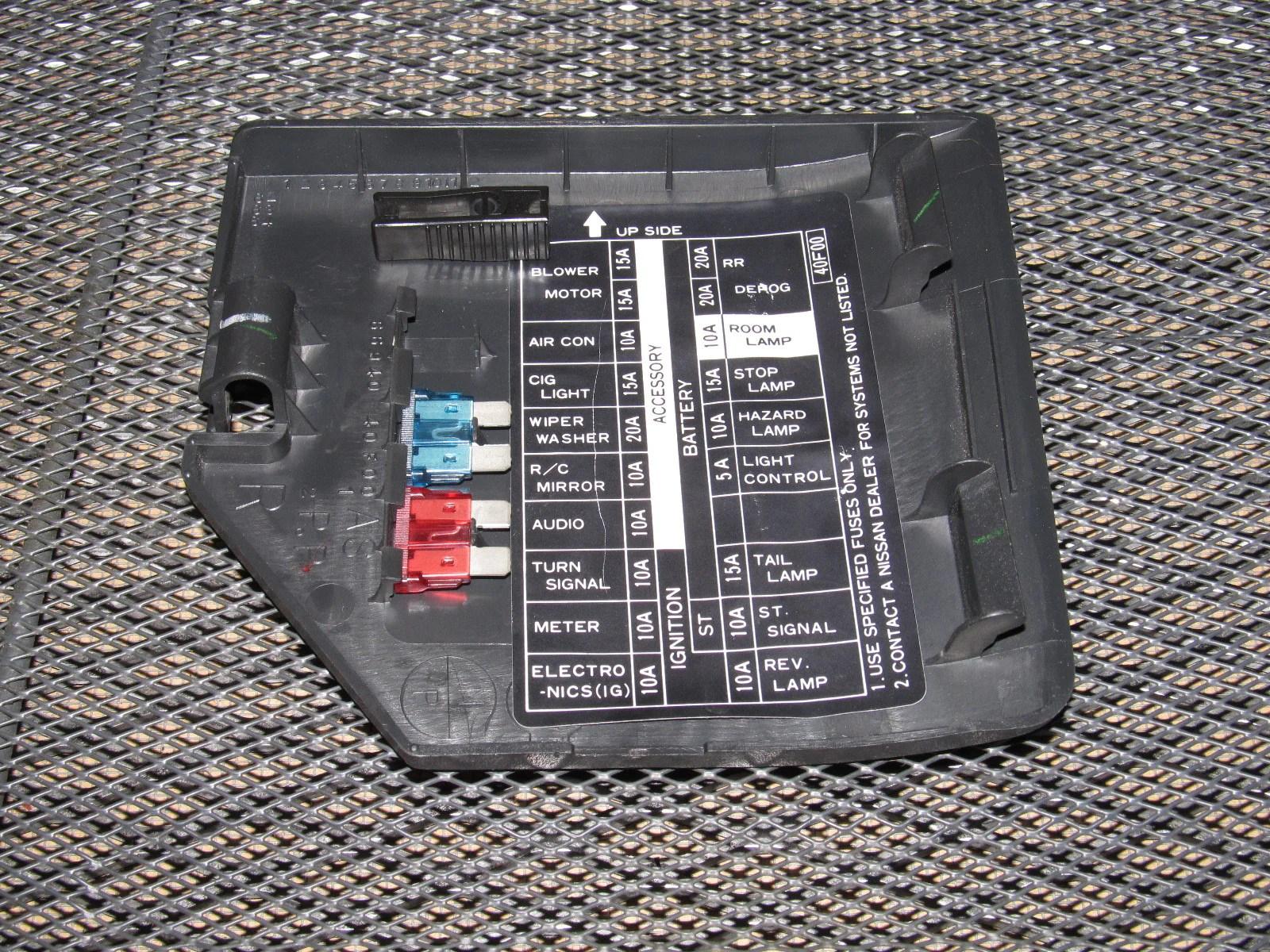 91 92 93 94 Nissan 240SX OEM Interior Fuse Box Cover – Autopartone