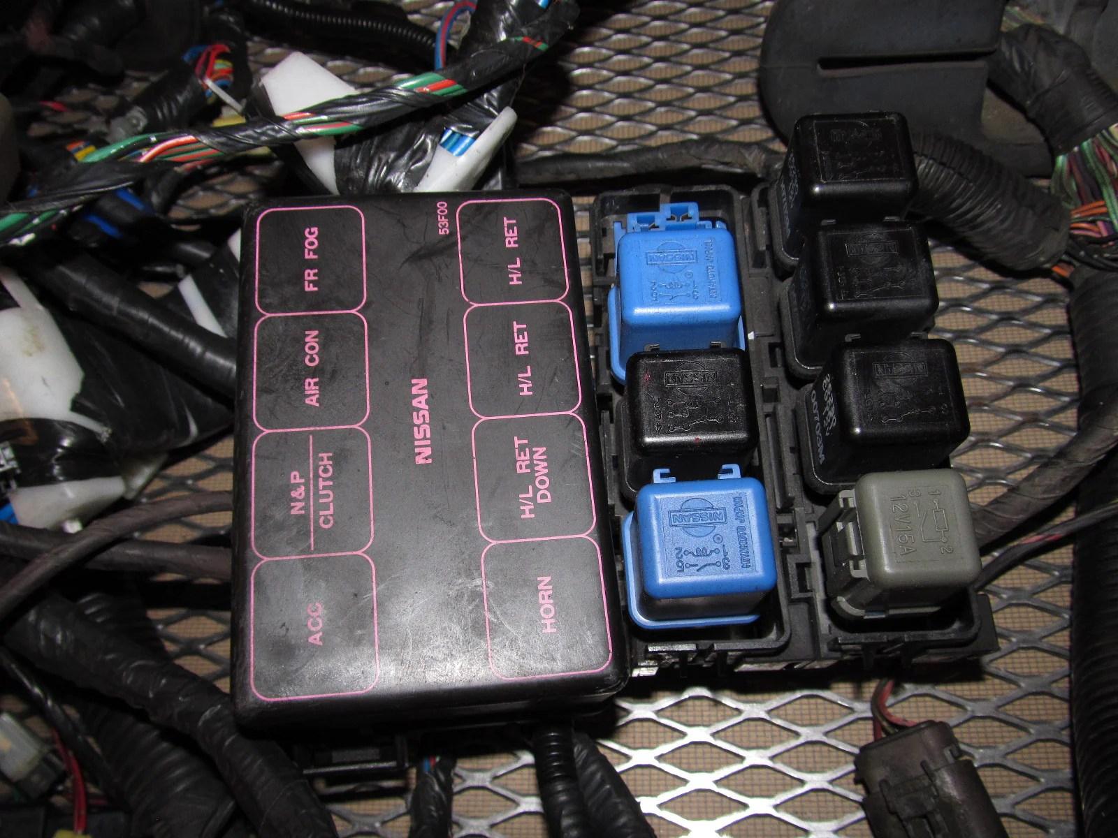 91 92 93 94 Nissan 240SX OEM Fuse Box Wiring Harness