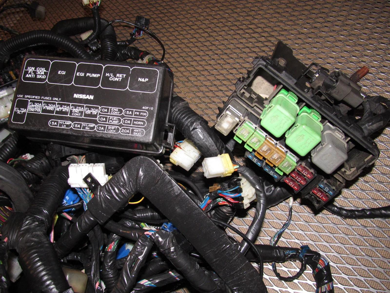 89 90 Nissan 240SX OEM Fuse Box Wiring Harness