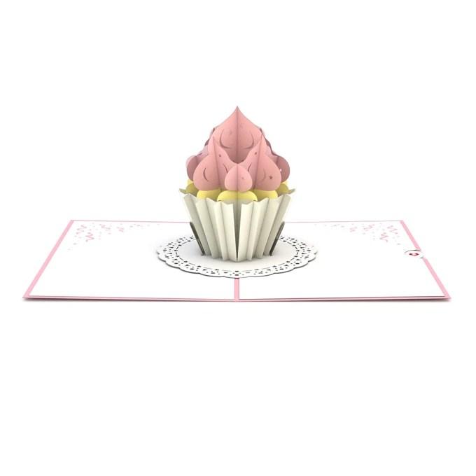 Cupcake Birthday pop up card