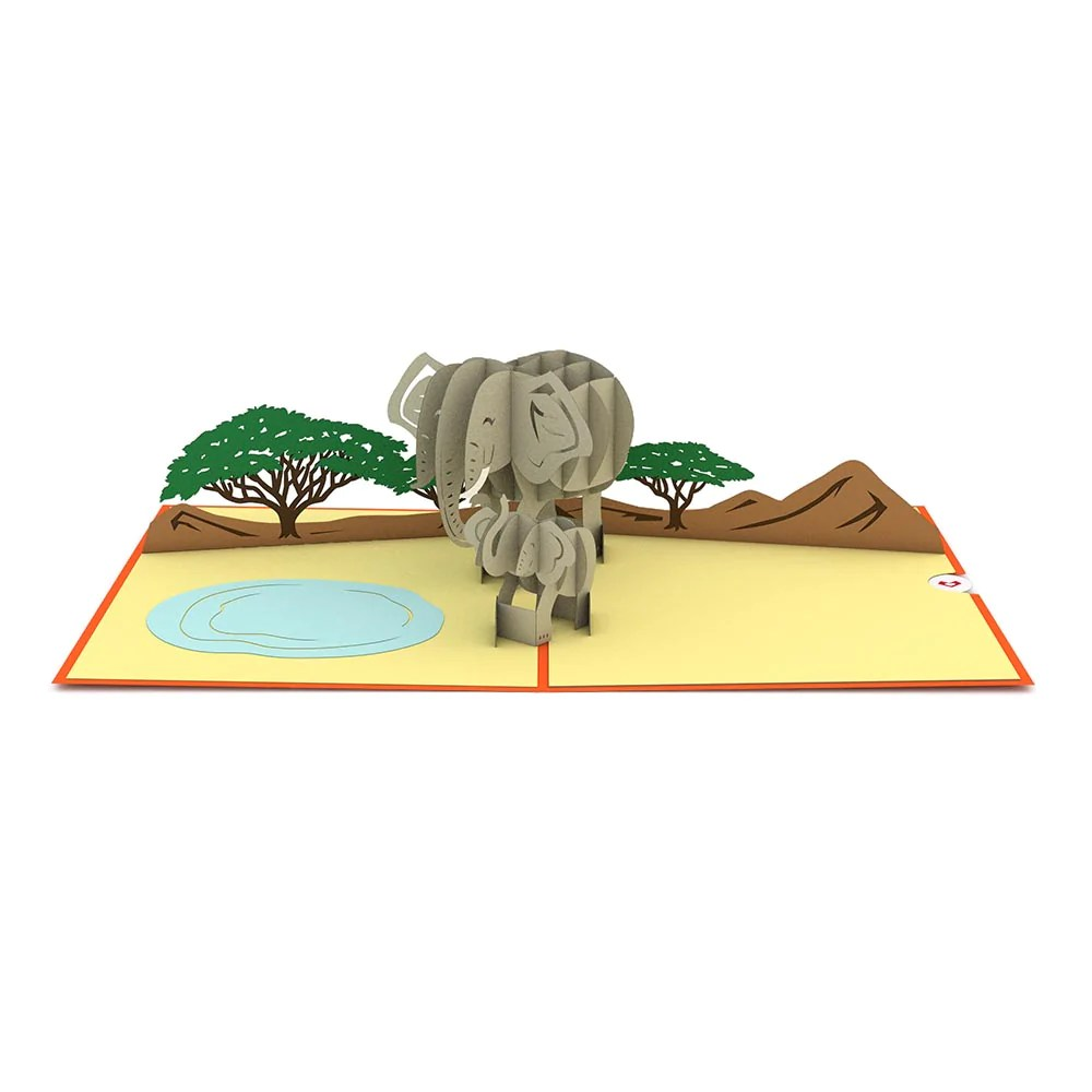 Elephant Family Pop Up Card Lovepop