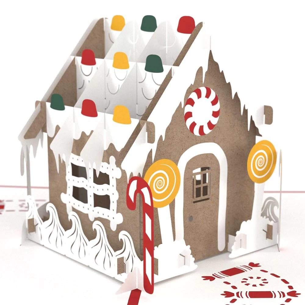 Gingerbread House Pop Up Christmas Card Lovepop
