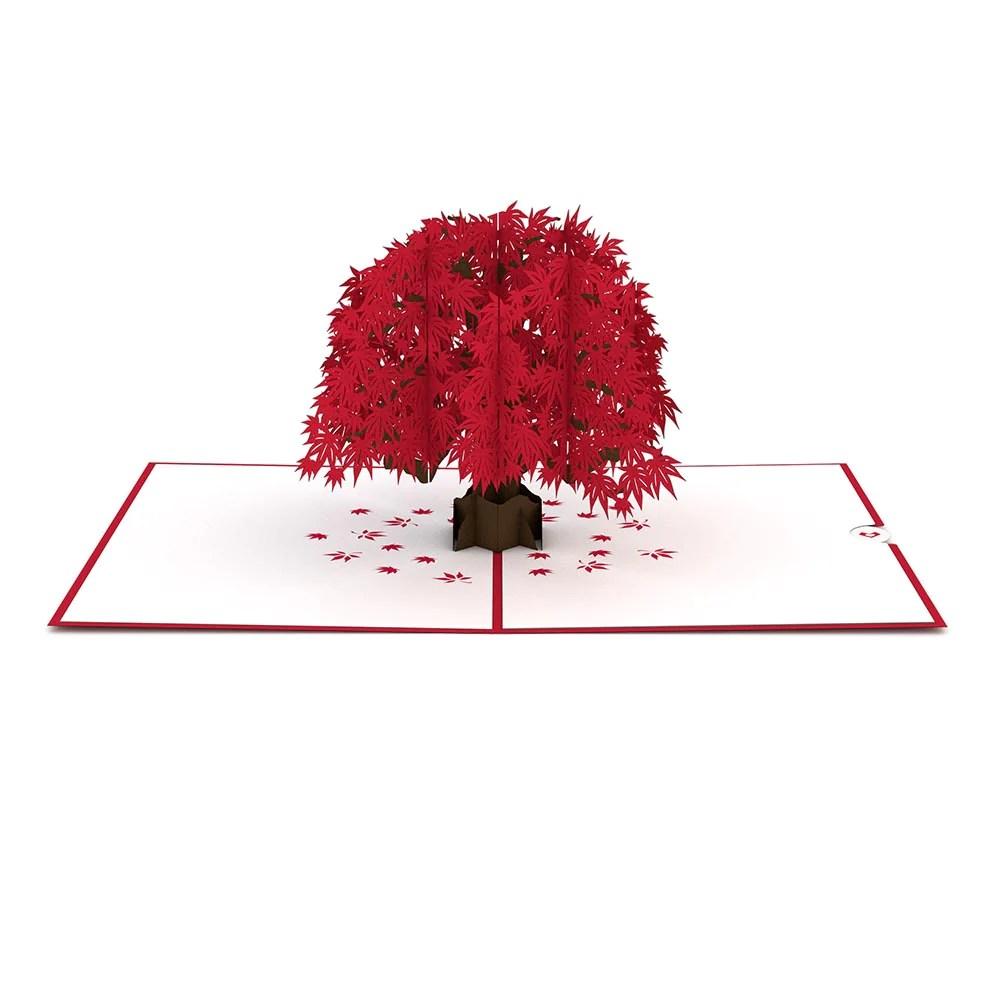 Japanese Maple Pop Up Card Lovepop