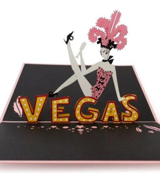 Las Vegas Showgirl 3D Pop Up Card Lovepop