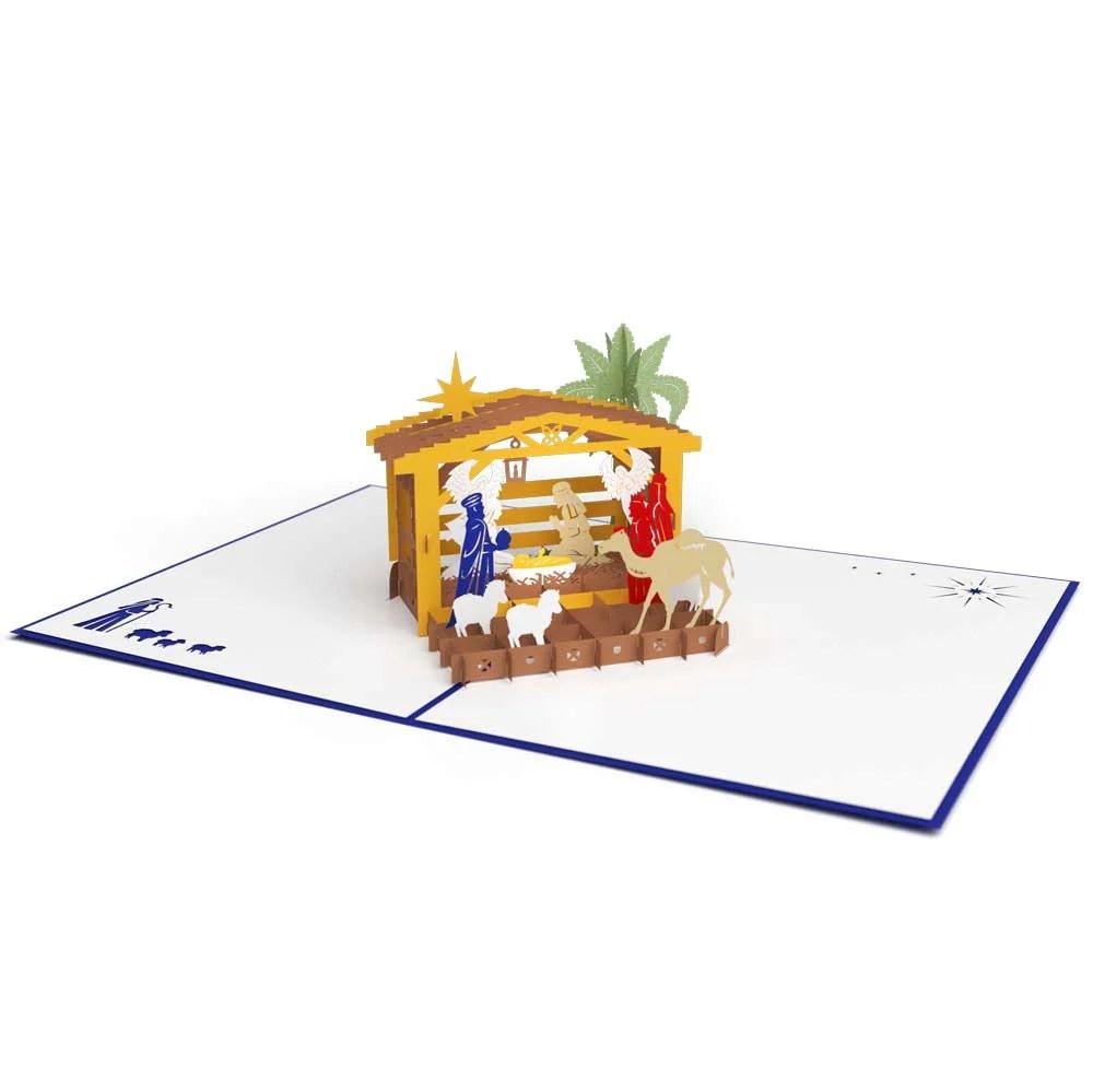 3D Nativity Pop Up Christmas Card Lovepop