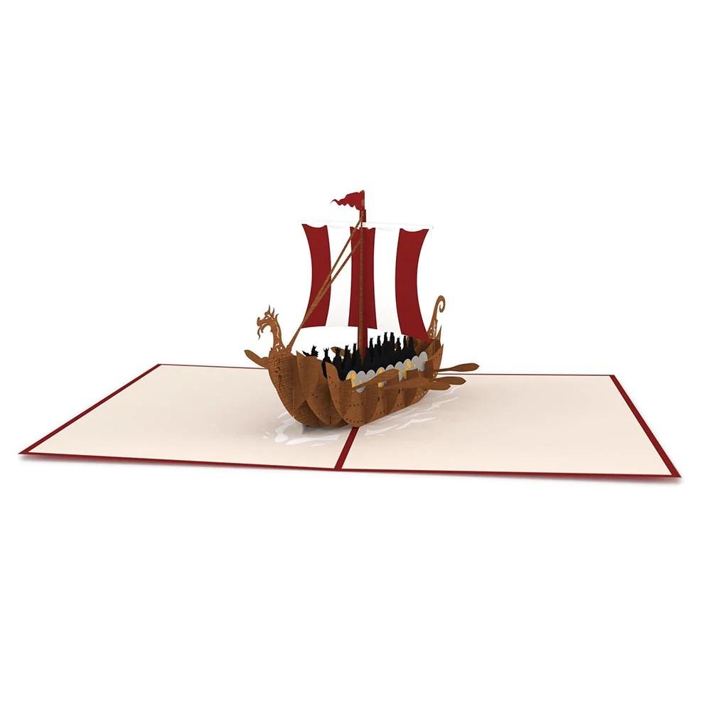 Viking Ship Pop Up Card Lovepop