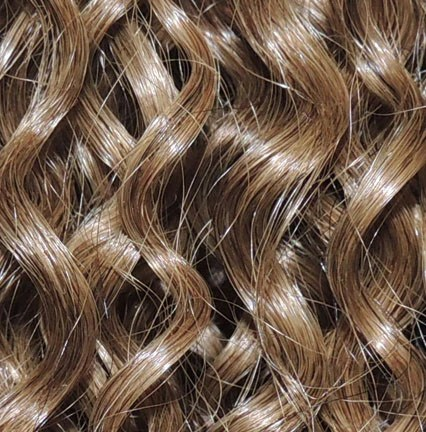 8 Golden Brown Clipin Curly Hair Extensions Curly