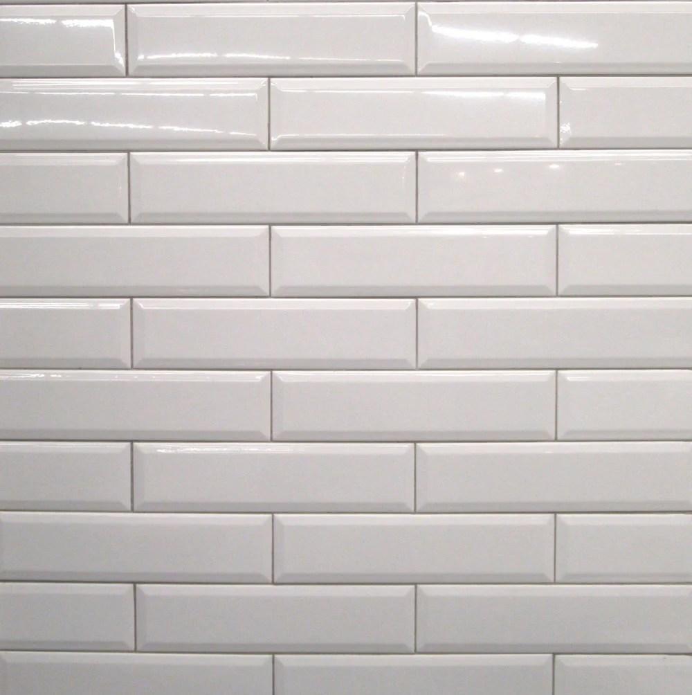 4x16 white bevelled subway tile