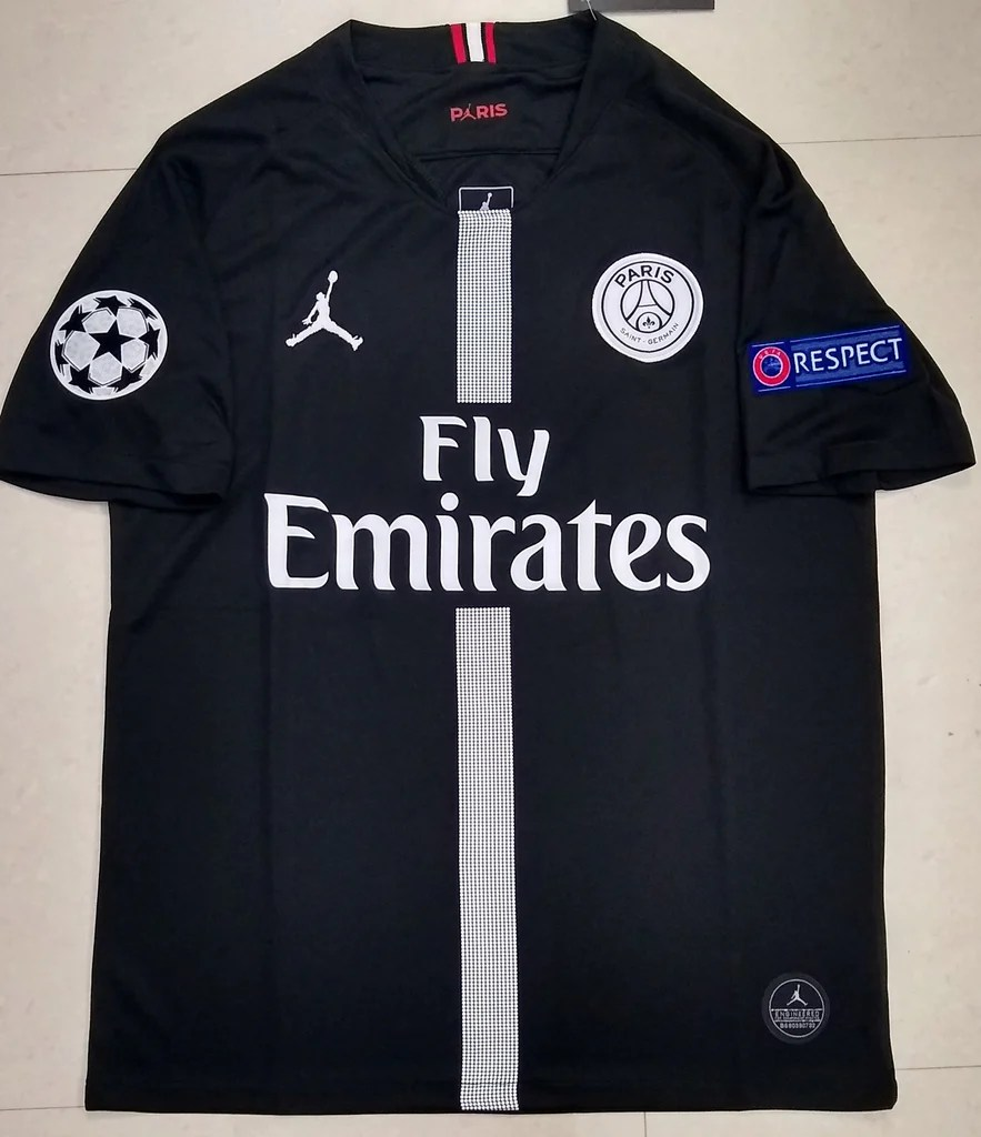original jordan x black psg jersey 2018 19 superior quality