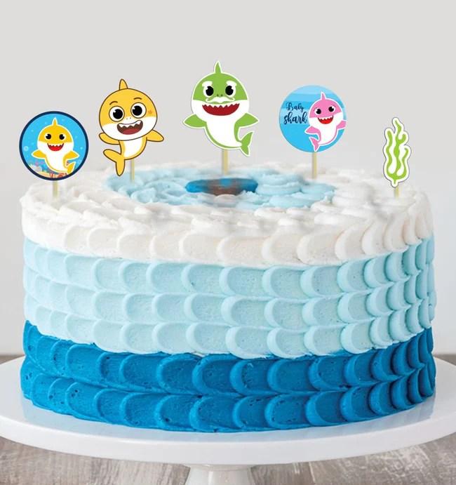 Baby Shark Girls Birthday Cake Decorating Kit Cake Topper Theme My Party