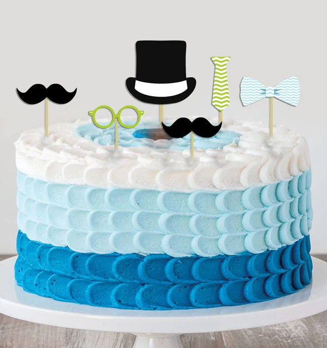 Little Man Theme Cake Topper For Birthday Party Theme My Party