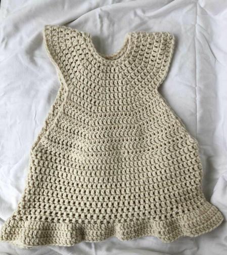 Peggy vest from Faith Rowan leeves