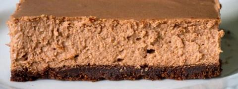 Recept voor een cheesecakereep met donkere chocolade als dessert