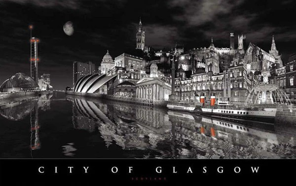 Glasgow Black And White Dramatic Pureminted
