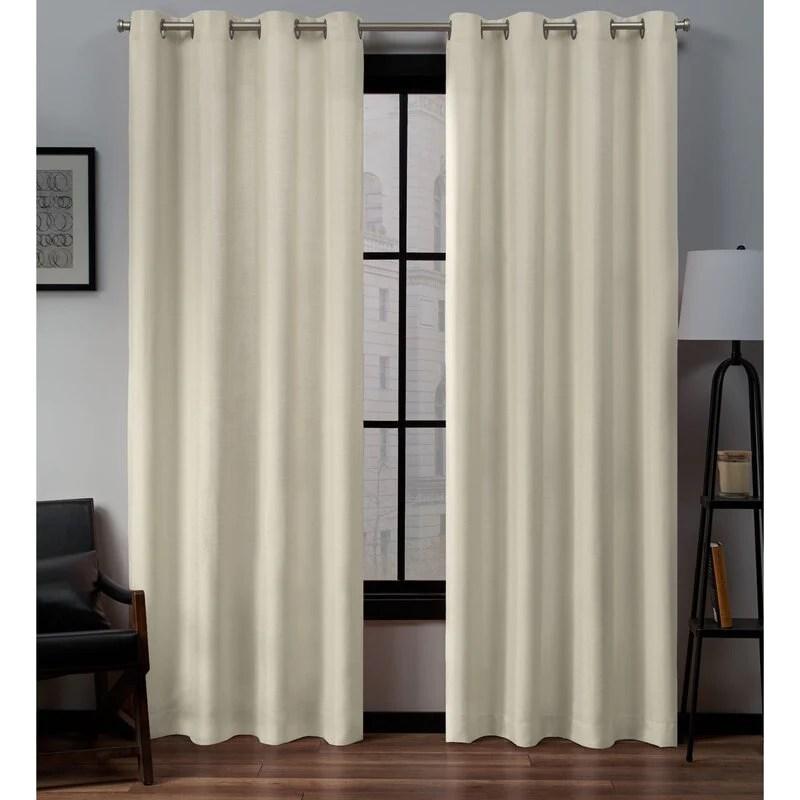 heil solid color semi sheer grommet curtain panel set of 2 gl931