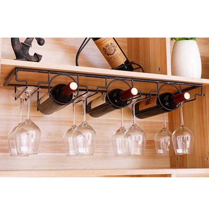 porte bouteilles et verres a vin pour meuble design epure 70cm porte bouteilles fr